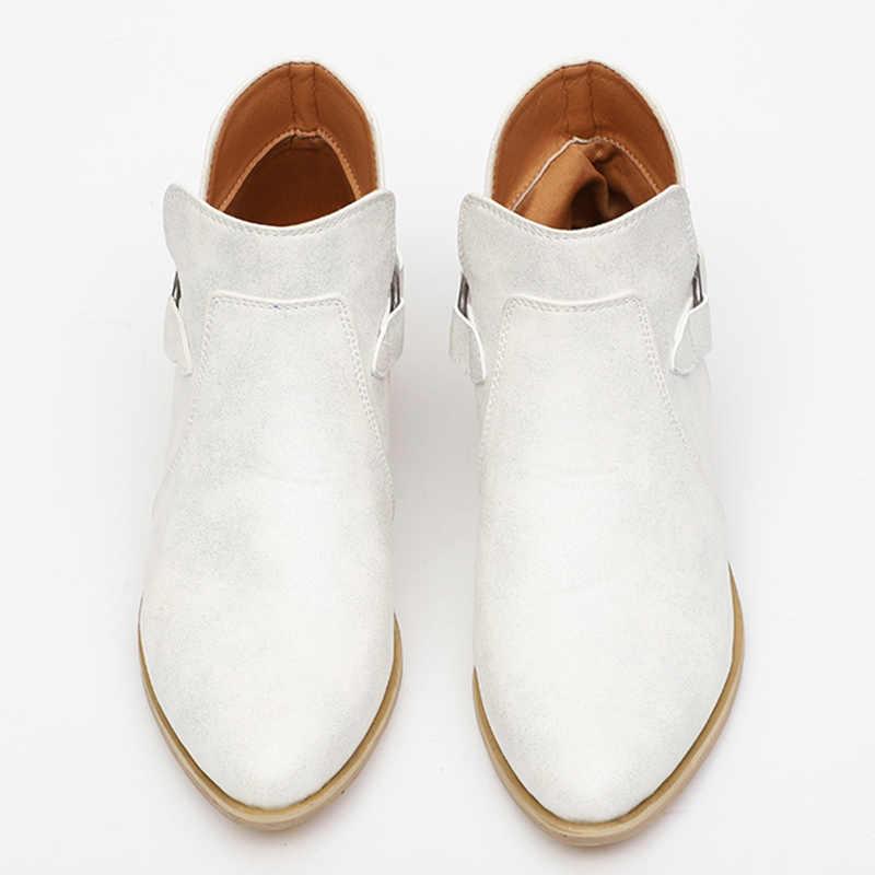 Kadın çizmeler hakiki deri Cossacks kadın ayakkabı Artı Boyutu yarım çizmeler ayakkabı kadın kovboy çizmeleri kadın kazaki botas mujer