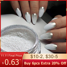 1pcs Silver Mirror Magic Pigment Powder Manicure Dust Shiny Gel Polish Nail Art Glitter Chrome Powder Flake Decorations BE04S 1