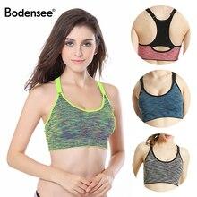BODENSEE Women Sports Bra Quick Dry Padded Shockproof Gym Fitness Running Yoga Sport Brassiere Underwear Wire Free Bras