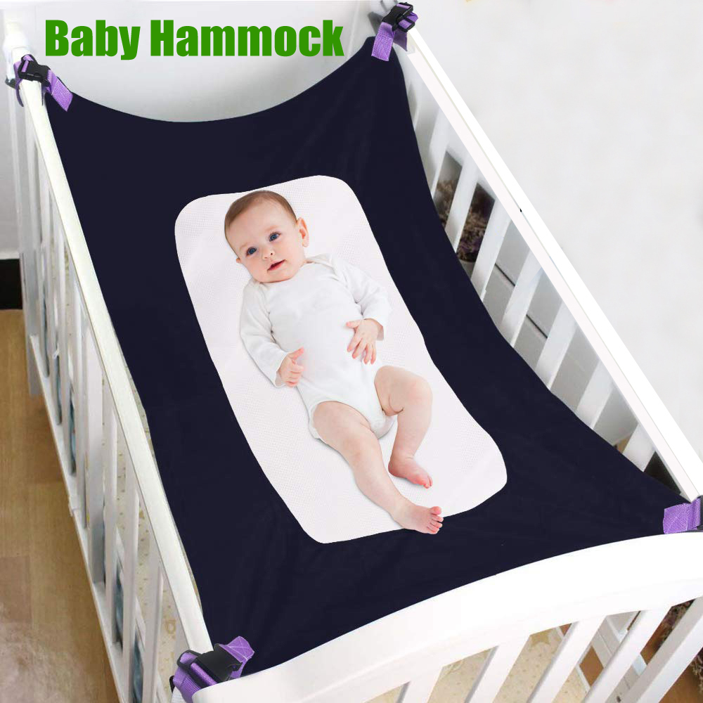 New Baby Infant Hammock Home Outdoor Detachable Portable Comfortable Bed Kit Crib Elastic Hammock With Adjustable Net