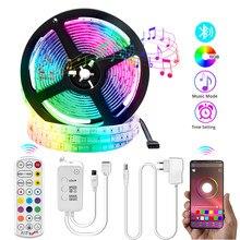 5050 RGB Bluetooth rétro-éclairage Intelligent LED bande lumière DC 12V 5m 10m 15m couleur lumière LED HDTV rétro-éclairage Intelligent LED lampe de nuit
