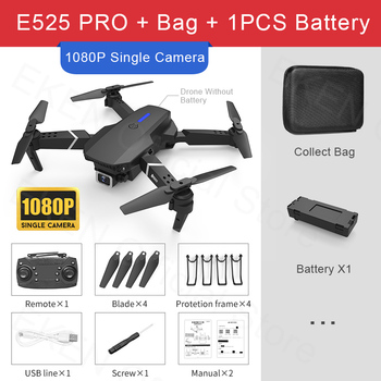 E525 PRO RC Quadcopter Profissional Obstacle Avoidance Drone Dual Camera 1080P 4K Fixed Height Mini Dron Helicopter Toy 7
