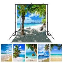 חוף ים חוף דקל עץ צילום רקע תמונה לירות אבזרי חתונה ילד ויניל בד רקע תמונה תא צילום