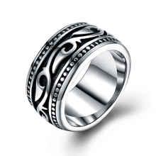 Титановое мужское кольцо из нержавеющей стали, винтажное геомерное мужское кольцо для мужчин, свадебные ювелирные изделия, серебряное винтажное мужское кольцо