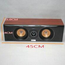 KYYSLB 40W 4ohm 4 Inch Center Passive Strip Full Frequency Midrange Treble Speaker Home Theater Surround Speaker Bullet Audio