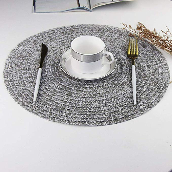 Heat Proof PVC Anti-Scald Placemat Kitchen Table Mats Round Pad Coasters 380mm Onderzetters Accessories Home Decoration
