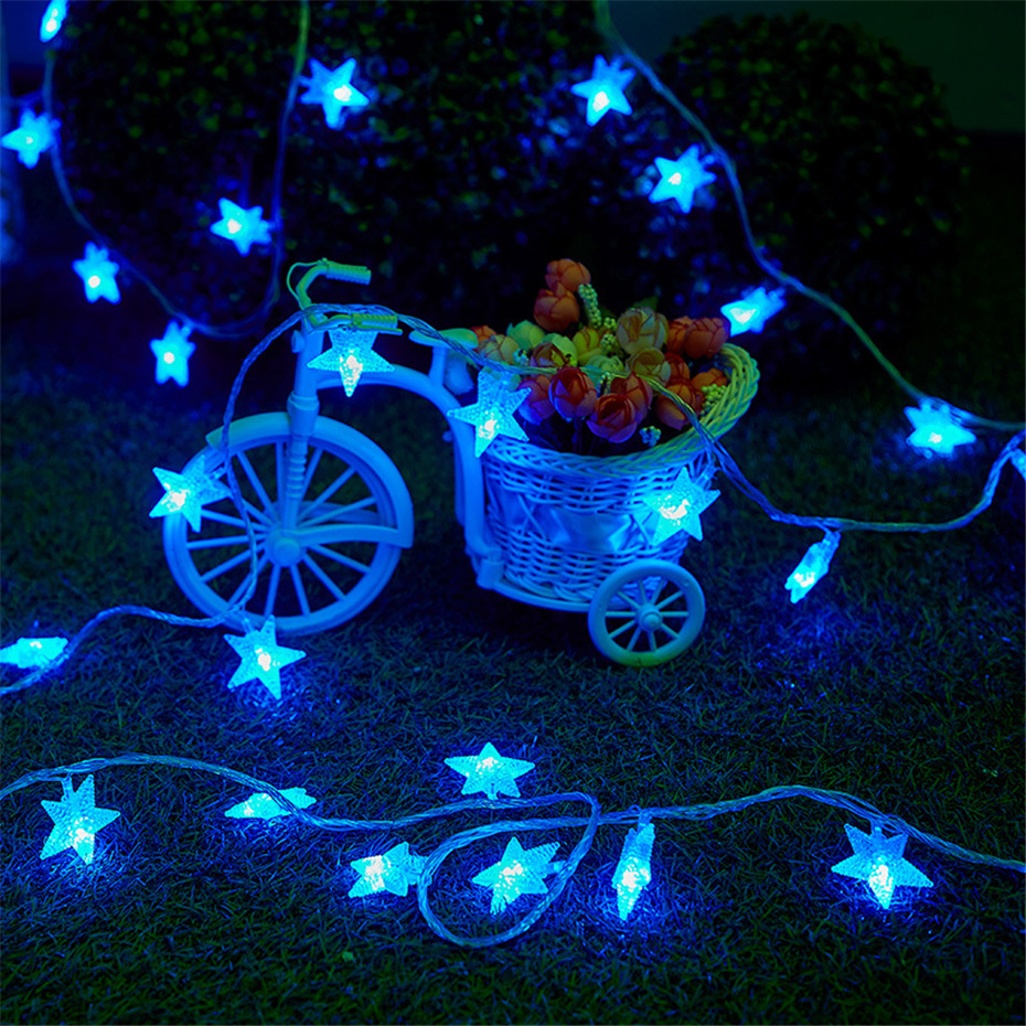 LED Star String Lights Twinkle Star Fairy Light Decorative Star String Lights For Room Wedding Holiday Battery Powered Garlands