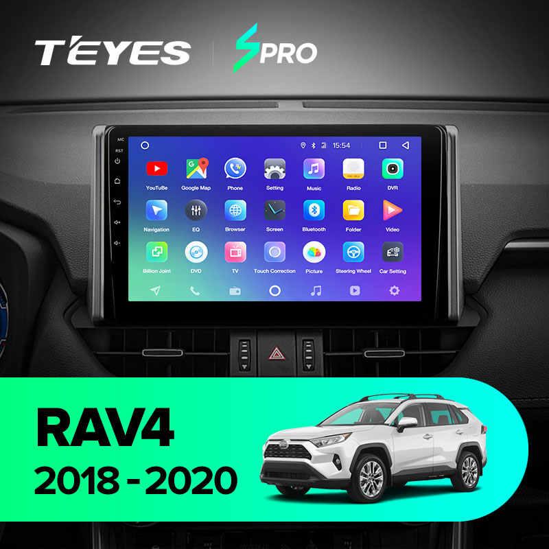 Teyes SPRO untuk Toyota RAV4 XA50 2018 - 2020 Mobil Radio Pemutar Video Multimedia Gps Navigasi Android 8.1 Tidak Ada 2din 2 DIN DVD