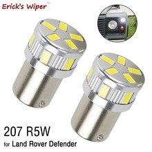 Bombilla Led para coche Land Rover Defender, luz lateral 207 R5W Ba15s, bayoneta, faro delantero, luz de estacionamiento, 12V, 2 uds.
