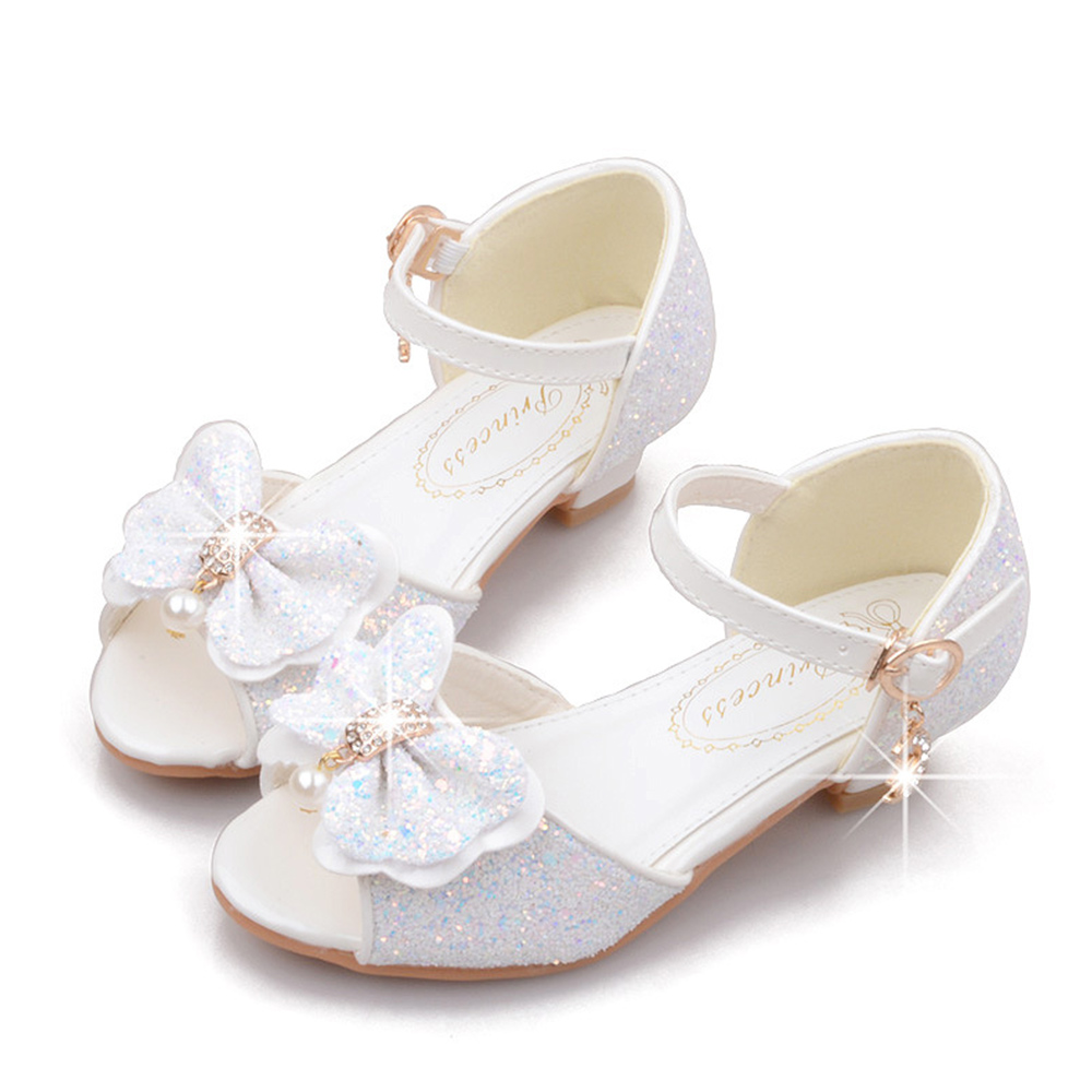 KIDS Fashion Girls Sparkly Dress Shoes,Adorable Kids Party Glitter Princess Mary Jane