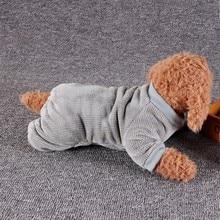 Новые Pet повседневная одежда 4 брюки с широкими штанинами Пижама теплая одежда для собак фланелевой Комбинезон Щенок пальто одежда костюм рубашка Чихуахуа# h