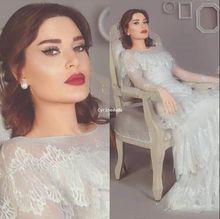 Ocasião especial свадебное платье ruffly saia formal de mangas compridas vestidos de novia vestidos de noiva XD 163