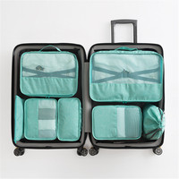 7PCS/Set Travel Suitcase Organizer Bag Storage Case Luggage Water Repellent Duffel Zip Bags Underwear Bra Clothes Packing Set