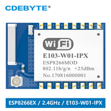 E103-W01-IPX Wifi Module 2.4GHz 100mW Transceiver  ESP8266EX 100m IPX Interface Transmitter and Receiver
