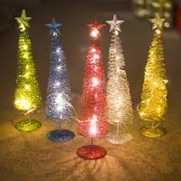 Рождественские светодиодные гирлянды на деревья рождественские настольные украшения для рождественской елки декоративные рождественски...