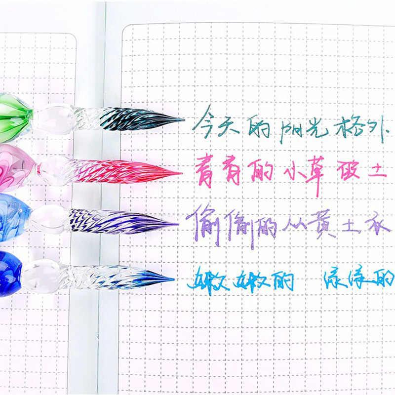 แก้วปากกาคริสตัลแก้วหมึกปากกาชุดหมึกคาร์บอนปากกาลายเซ็นการเขียนเครื่องมือ GK99