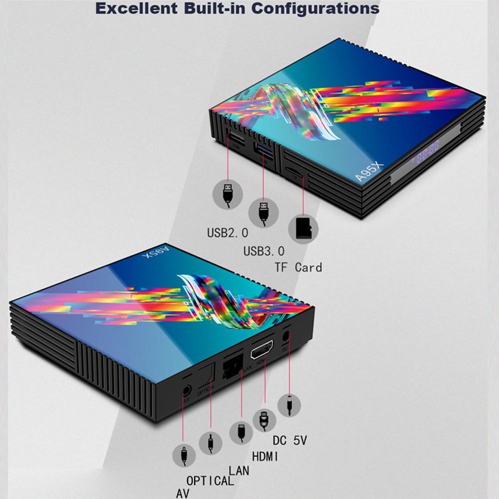 a95x r3 rk3318 smart tv box android 9.0 tv box 4K Quad core set-top box mini media player 4gb 32gb 64gb 2gb16gb