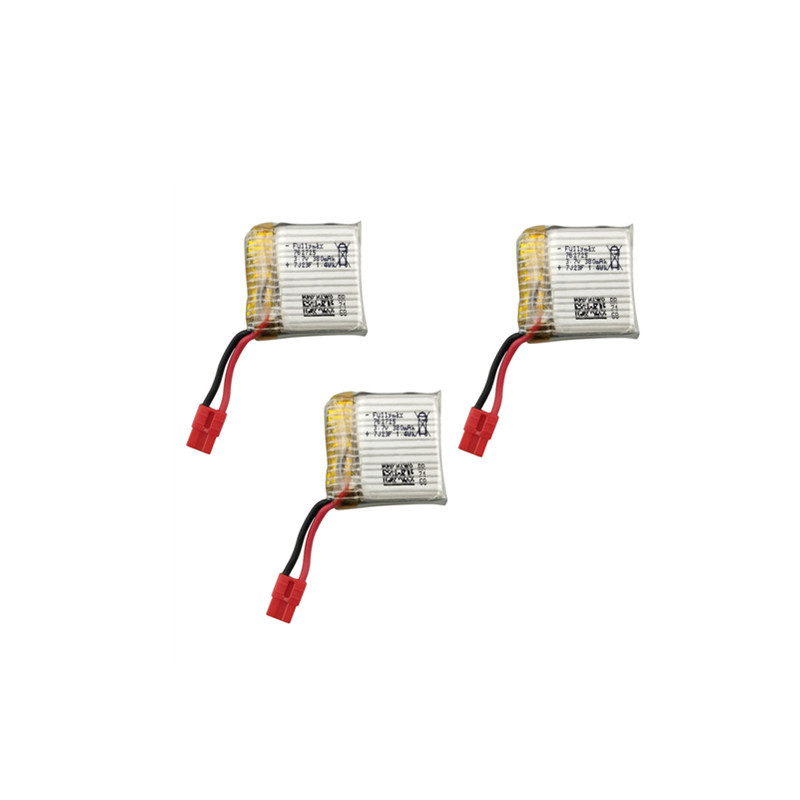 3PCS X21W Battery 3.7V 380mAh Battery Part For SYMA X21 X21W X26 X100 Battery Part RC Quadcopter Spare Part Drone Accessory