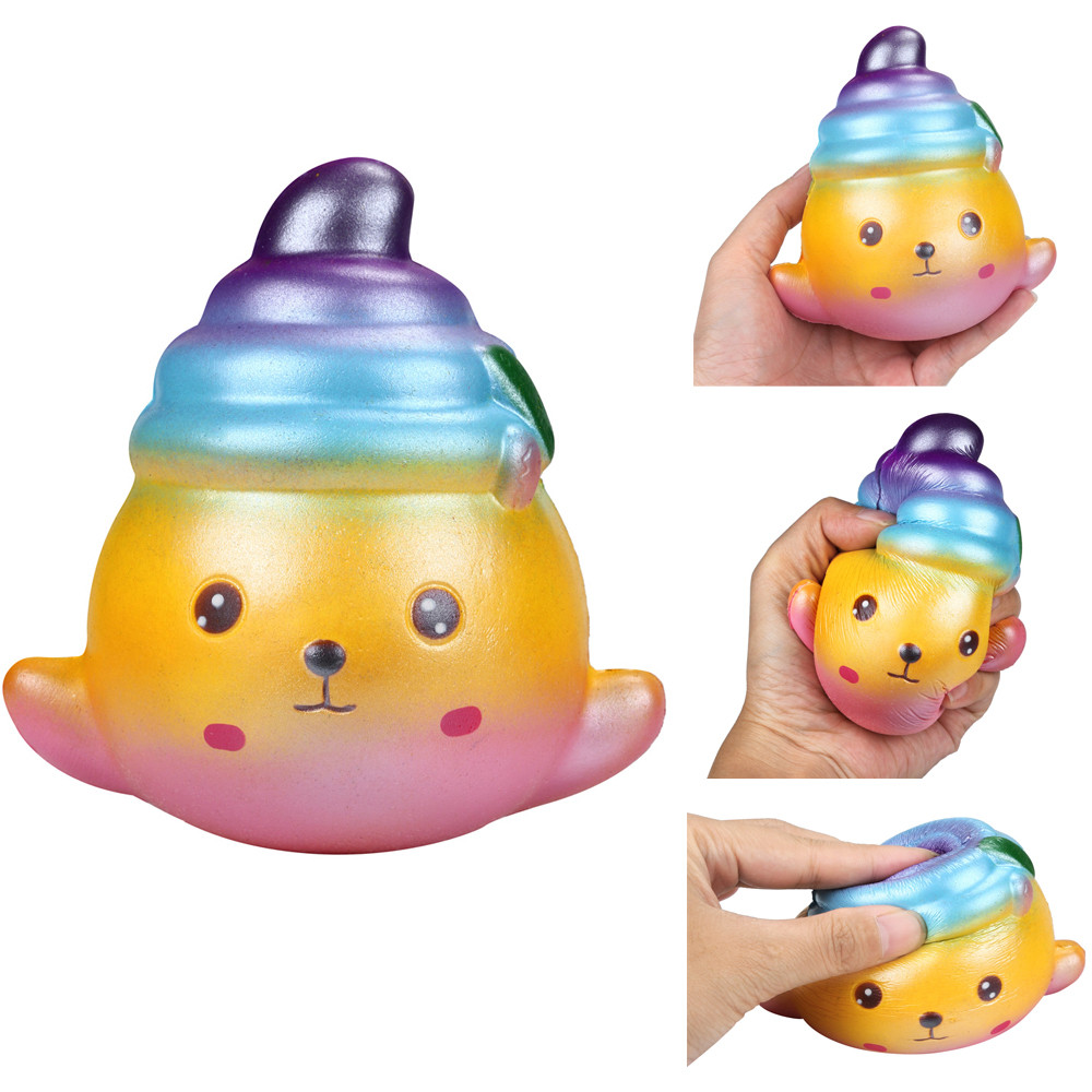 Kids Funny Toy Cute Splendid Seal Charm Slow Rising Squeeze Stress Reliever Starry Sky Toys Squeeze Collectible Toys L0119