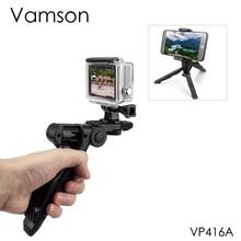 Vamson Trípodes para Go Pro, accesorios para cámara, monopié, soporte para teléfono, GoPro Hero 8 7 6 5 4 para Xiaomi Yi Black VP416