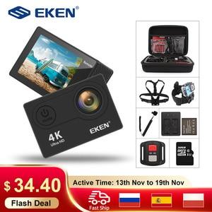 """Image 1 - Caméra daction dorigine EKEN H9R H9 Ultra HD 4K WiFi avec télécommande 2.4G 2.0 """"écran 30M étanche sport mini cam"""