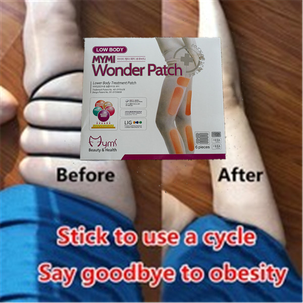 18pcs/pack Mymi Wonder Slim Patch For Legs Arm Slimming Weight Loss Anti Cellulite Patchs Burn Fat Leg Shaper Face Lift Tool