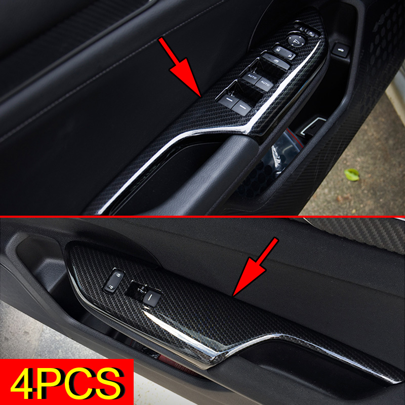 LANZMYAN Carbon Fiber Dashboard Panel Dial Cover Trims Center Console Moulding Decal Stripes for 10th Gen Honda Civic 2020 2019 2018 2017 2016