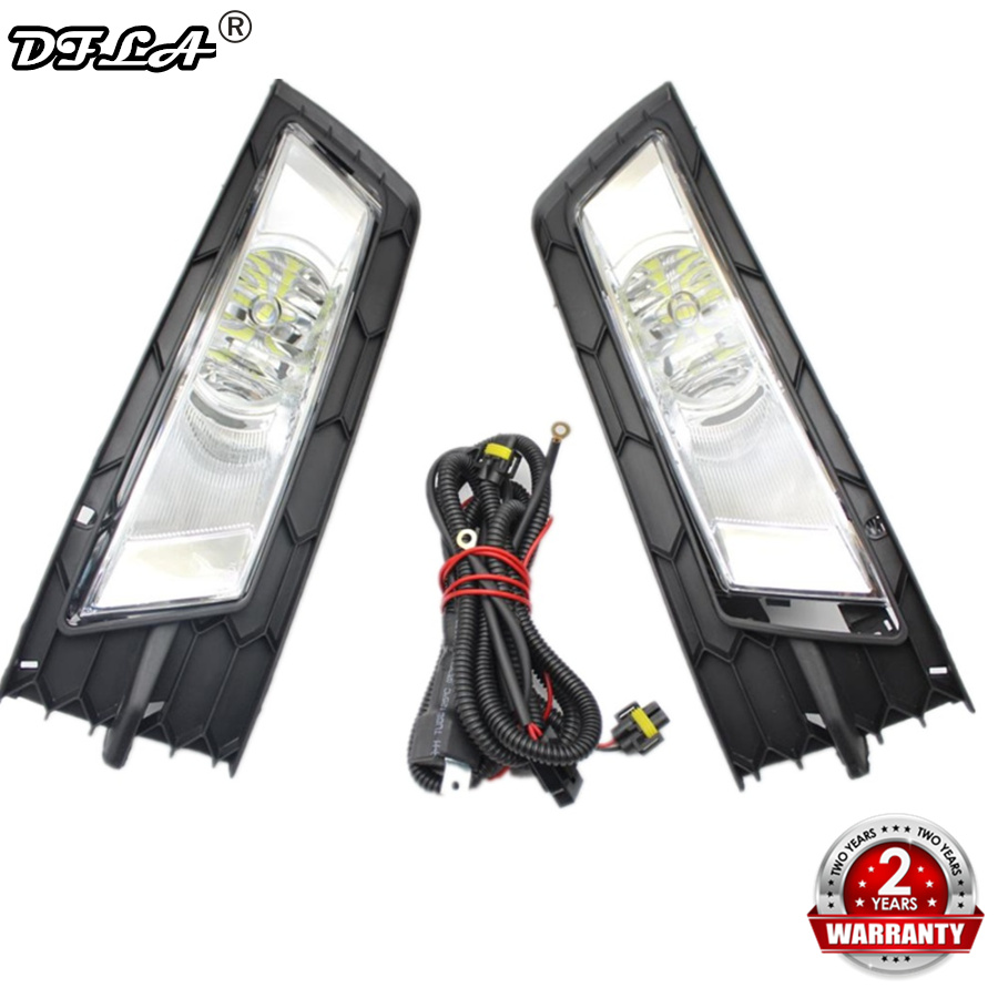 Led Light For Skoda Rapid 2013 2014 2015 2016 2017 Car-styling Front LED Fog Light Fog Lamp Fog Light Cover And Harness Assembly