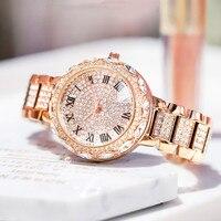 2020 zegarek kobiety moda luksusowe diament zegarek kwarcowy Ladie kreatywny stali zegarki kobiety dorywczo elegancka kobieta zegar w Zegarki damskie od Zegarki na