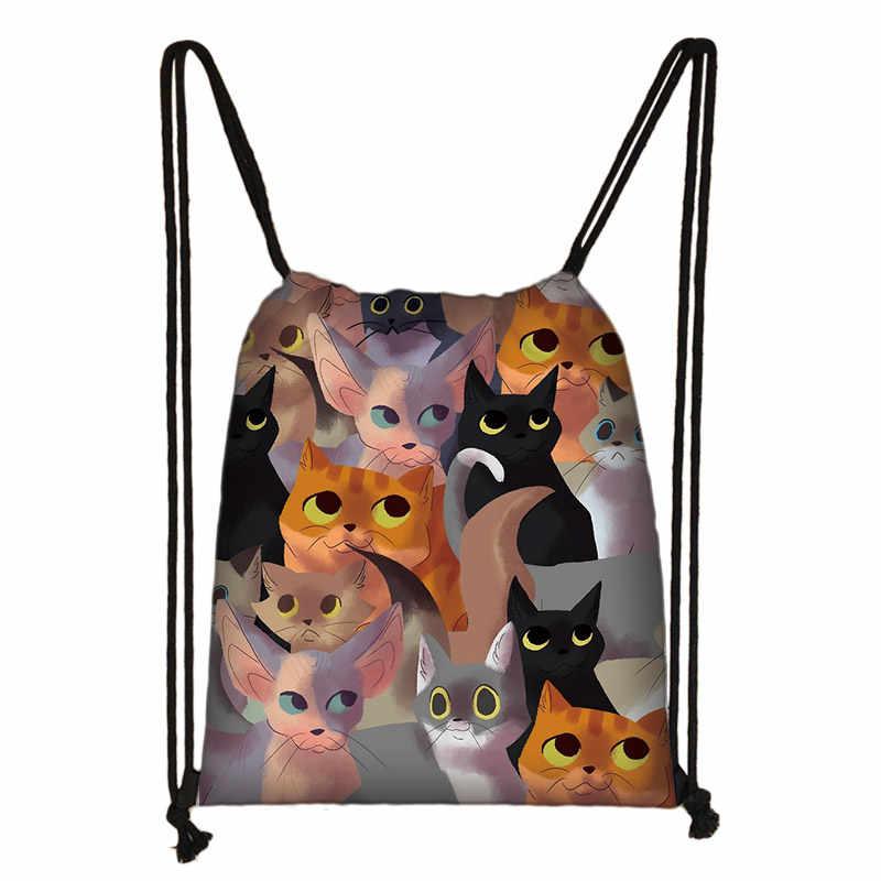 Gato unicórnio mochila adolescente meninas sacos de viagem moda feminina saco de armazenamento crianças bookbag escola mochila feminina compras