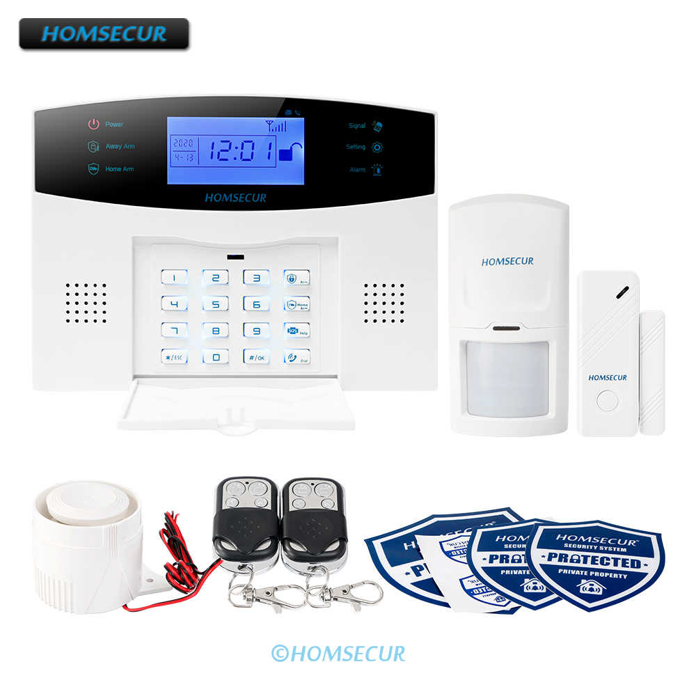 HOMSECUR Wireless/&wired LCD GSM SMS Autodial Burglar Intruder Alarm System