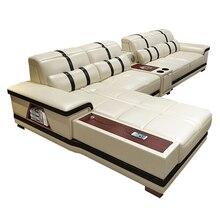 Гостиная комната диван место для хранения угол натуральный натуральный кожа диваны салон диван пуховик asiento динамик bluetooth канапе L форма диван cama