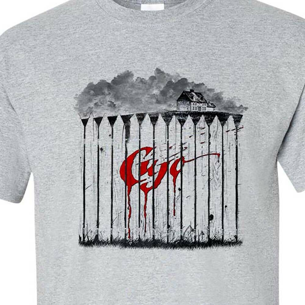 Cujo T-Shirt Retro 1980s Classic Horror Movie Stephen King Gray Graphic Tee Design T Shirt Men's High Quality image