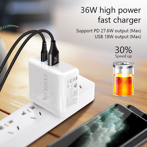 Image 2 - USB C Wall Charger, EKSPRAD 36W 2 Port Type C Charger with 18W Power Delivery with Foldable Plug For iPhone 11 Pro Fast Charge