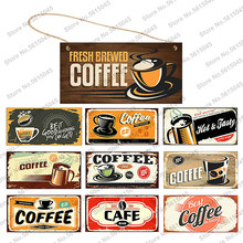 Vintage Sign Coffee Wooden Hanging Signs Decorative Plaques Door Wooden Plaque In Home Decor Cafe Kitchen Hanging Plaque