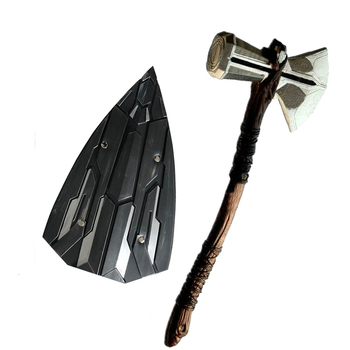 1:1 cosplay Thor Axe Hammer Stormbreaker vengers War Shield Weapons image
