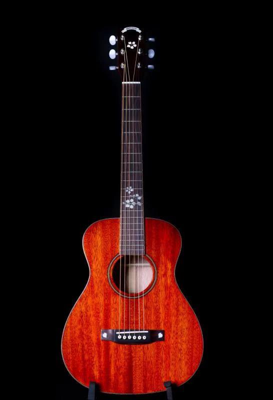 Usine chinoise OEM + 34 pouces guitare acoustique en acajou + guitare pour enfants + guitare de voyage + incrustation de touche cerise