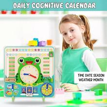 2019 Childrens toys Wooden Calendar Time Season Educational Toys Early Learning Toy Baby Development