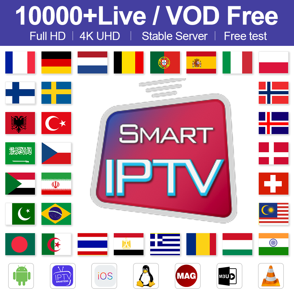 IPTV France Germany Arabic Belgium Spain IPTV Subscription M3U Android Code IPTV Netherlands Italy Portugal Sweden Greek IP TV