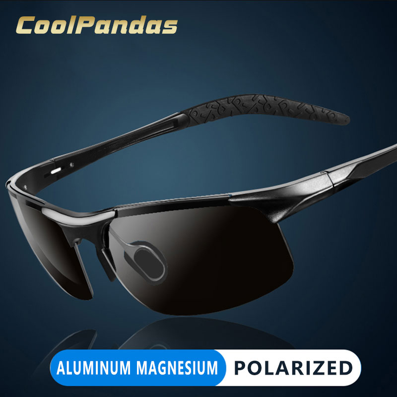 CoolPandas Brand Design Aluminum Magnesium Frame Men Sunglasses Polarized Goggle Sports Driving Glasses Male gafas de sol hombre