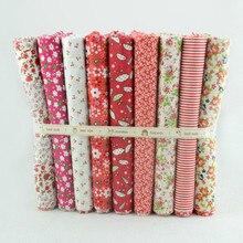 """Bookcouture tissu en coton mélangé 50CM x 50CM, 9 Designs, ensemble du quart graisse """"joli rouge"""", tissu Tilda, Patchwork W3B5 2"""
