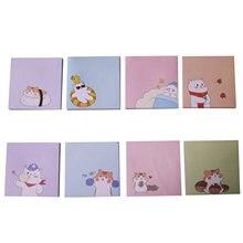 Mignon quatre saisons ours blancs Note collante coloré beaux animaux mémo papier pour école affaires bureau famille utilisé
