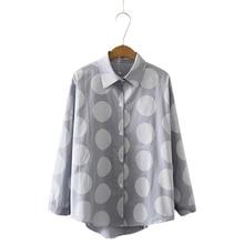 Korean Polka Dot Women Shirts Cotton Long Sleeve Turn-down Collar Shirt Women Tops Fashion Clothes Formal Work Ladies Blouses