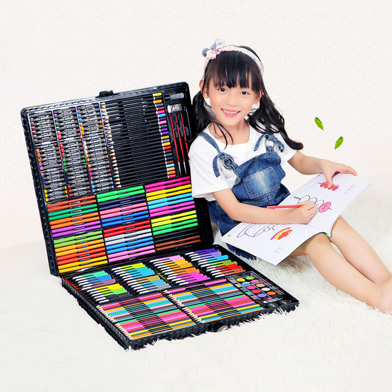 288PCS Children Painting Art Set Kids Gift Watercolor Drawing Art Marker Brush Pen Set For Children Daily Entertainment Toy Gift
