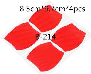 Image 5 - 1 סט = 4Pcs דלת ידית סיבי פחמן מגן סרט, שריטות כיסוי להדביק, חיצוני מכונית הגנה להדביק