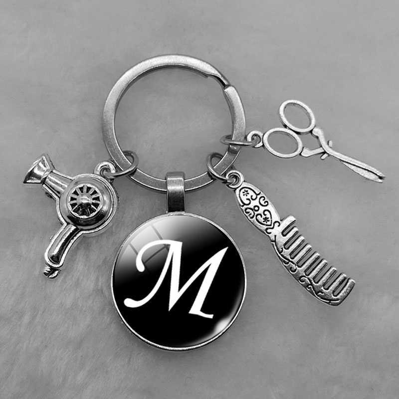 Creative Hairdryer Comb Scissors Key Chians Keyring Unisex Zinc Alloy Key Rings