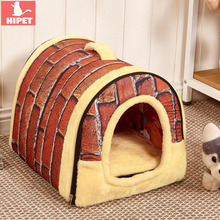 2 in 1 Indoor Pet House For Dog Cat Detachable Washable Waterproof Bottom Puppy Nest Beds Winter Warm Sleeping