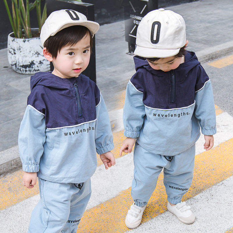 Toddler Spring Autumn Male Baby Girls Boys' Tracksuit Clothing Set For Boy Patchwork Sport Suit Two Piece Children Outfits
