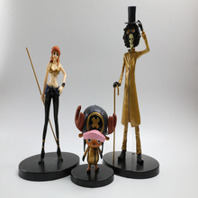 15-21cm Anime One Piece Figure Luffy Chopper Sanji Nami Zoro Pirate Ship Model Toy Film Gold Ver. PVC For Kids Gifts