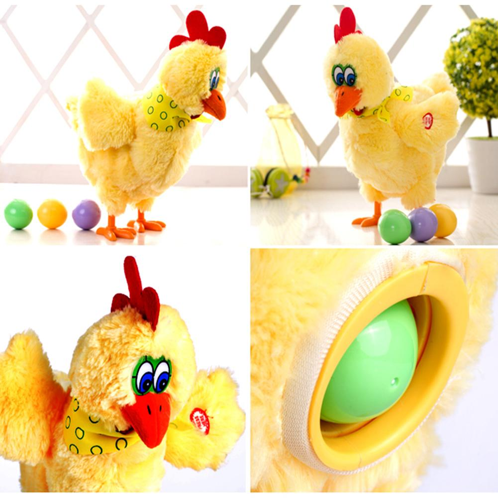 30cm Funny Raw Chicken Hens Will Lay Eggs Of Chickens Crazy Singing And Dancing Electric Pet Dolls Plush Toys Christmas Gifts